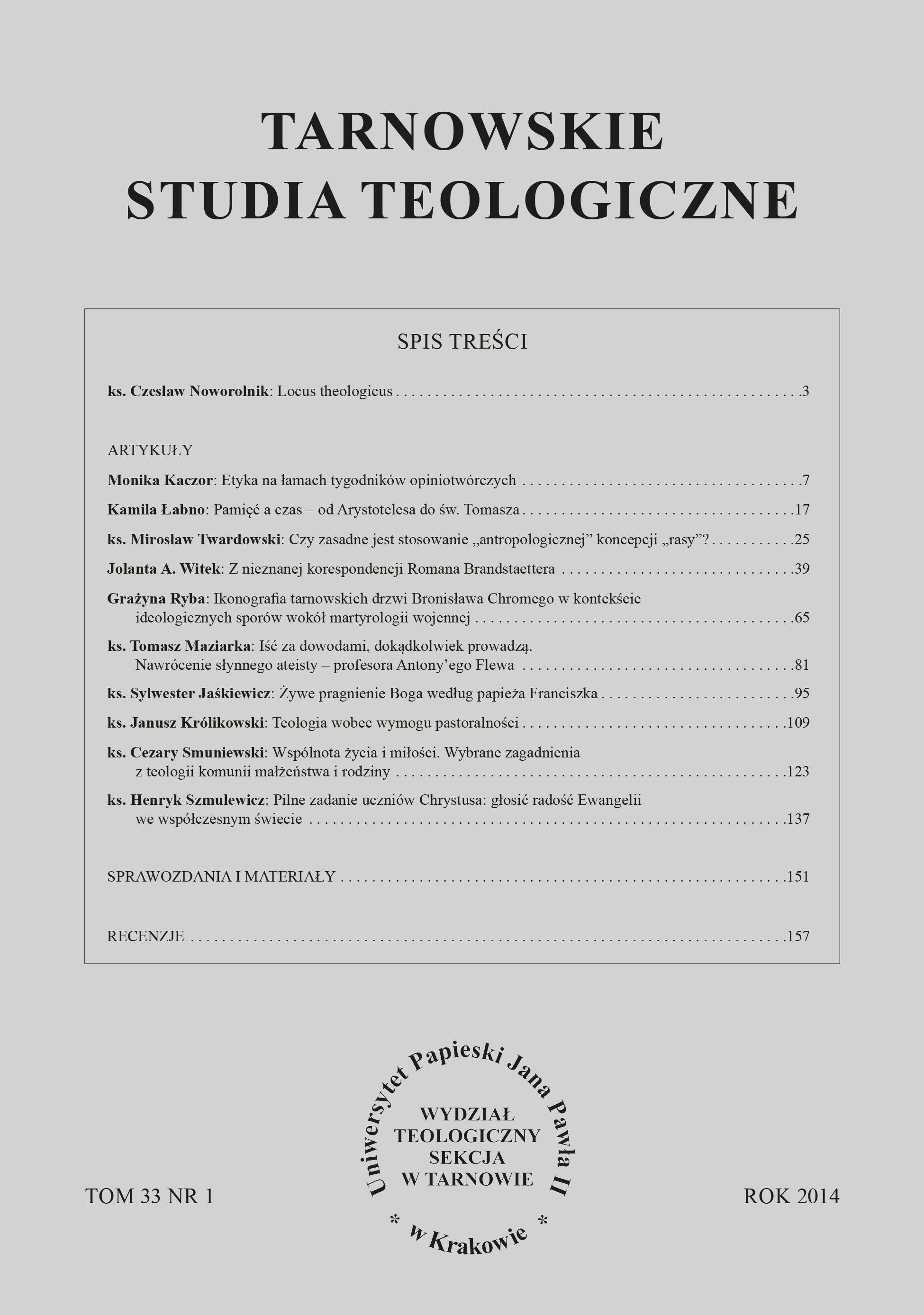Tarnowskie Studia Teologiczne 33 (2014) nr 1